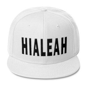 White Hialeah Snapback