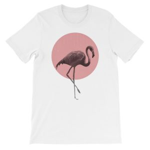 Flamingo Unisex short sleeve t-shirt